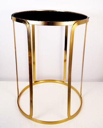 Stol crni/zlatni