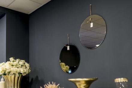 Okruglo zidno ogledalo