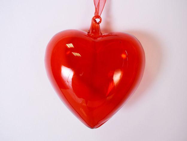 Slika Srce staklo S/3 10 cm