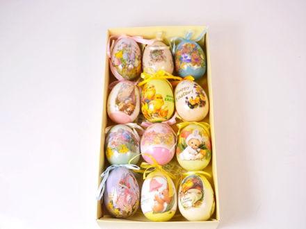Set od 12 uskršnjih plastičnih jaja