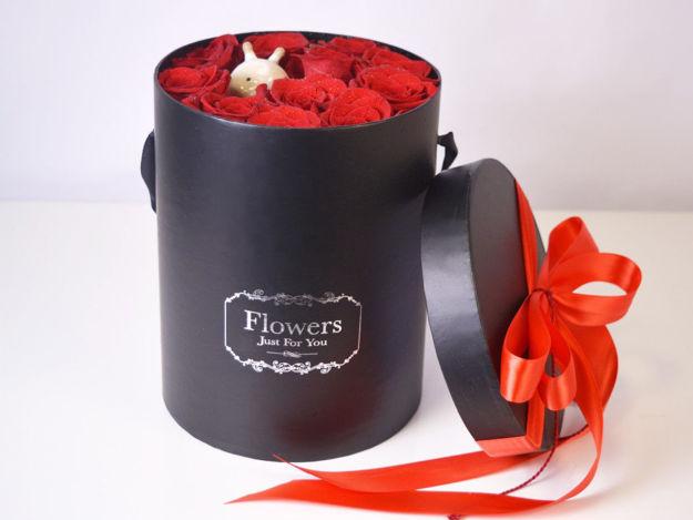 Flower box L - crvene ruže 01