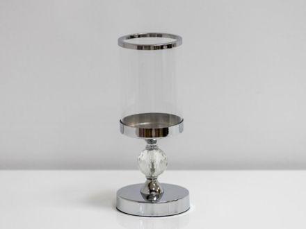 Slika Svijećnjak metal/staklo 28 cm