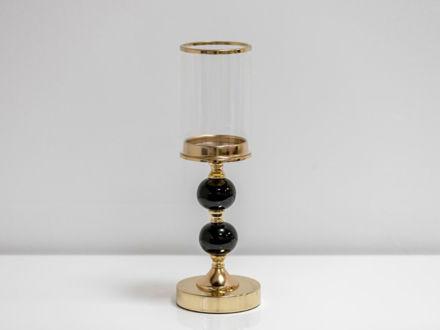 Slika Svijećnjak metal/staklo 37 cm