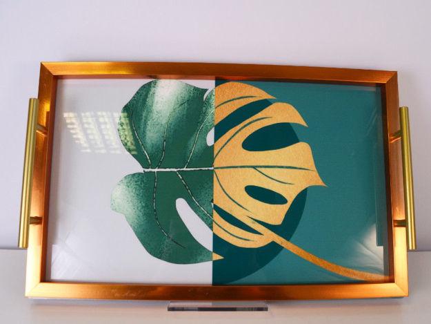 Slika Poslužavnik PVC/drvo 41 x 26 cm