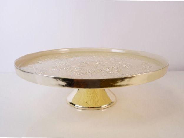 Slika Stalak staklo/metal 28 cm