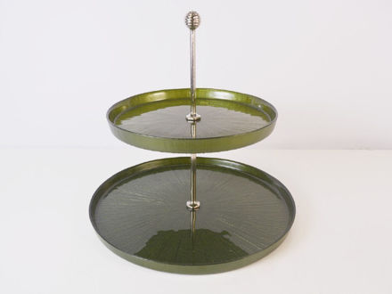 Slika Etažer 2 nivoa staklo 21 cm x 28 cm