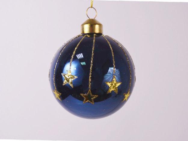 Slika Božićne kuglice staklo 8 cm S/4