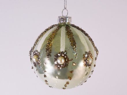 Slika Božićne kuglice S/3 staklo 8 cm