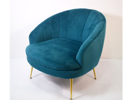 Slika Fotelja baršun/metal 82 x 76 x 79 cm