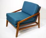Slika Fotelja tkanina/drvo 69,5 x 83 x 70 cm