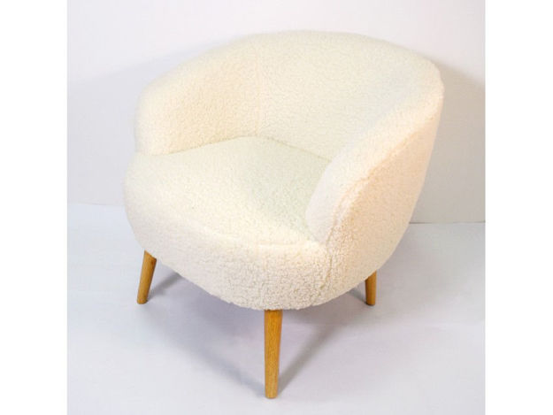 Slika Fotelja tkanina/drvo 72 x 72,5 x 75 cm