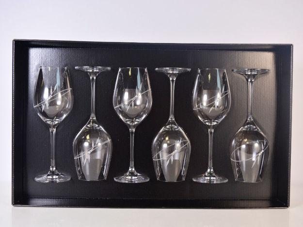 Slika Čaše sa Swarovski kristalima S/6 staklo 360 ml