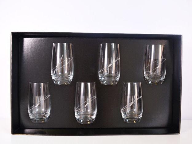 Slika Čaše sa Swarovskim kristalima S/6 staklo 390 ml