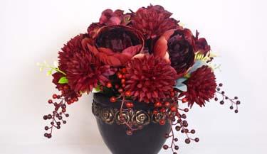 Aranžman od umjetnog cvijeća za groblja 03
