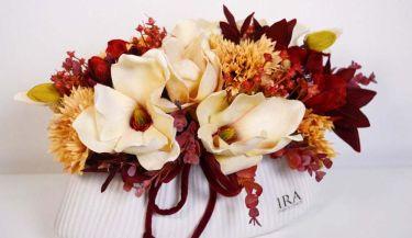 Aranžman od umjetnog cvijeća za uređenje interijera 01