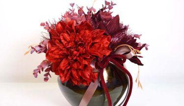 Aranžman od umjetnog cvijeća za uređenje interijera 02