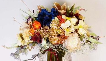 Aranžman od umjetnog cvijeća za uređenje interijera 03