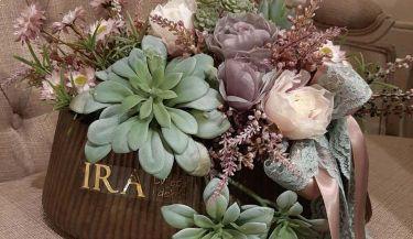 Aranžman od umjetnog cvijeća za uređenje interijera 04