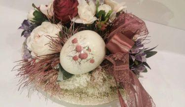 Uskrsni vijenac od umjetnog cvijeća 40