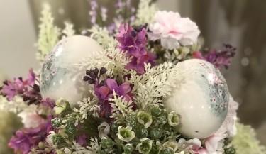 Uskrsni vijenac od umjetnog cvijeća 41